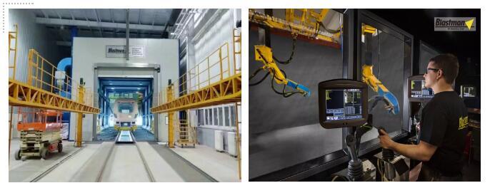 智能噴砂機器人為客戶提供完善的技術方案