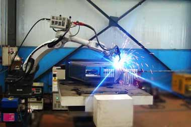 抛丸器自动焊接